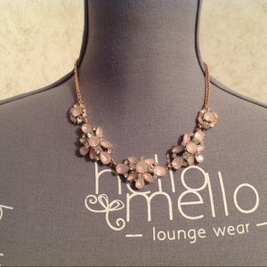 Charter Club Rose Gold Pink Stones Necklace